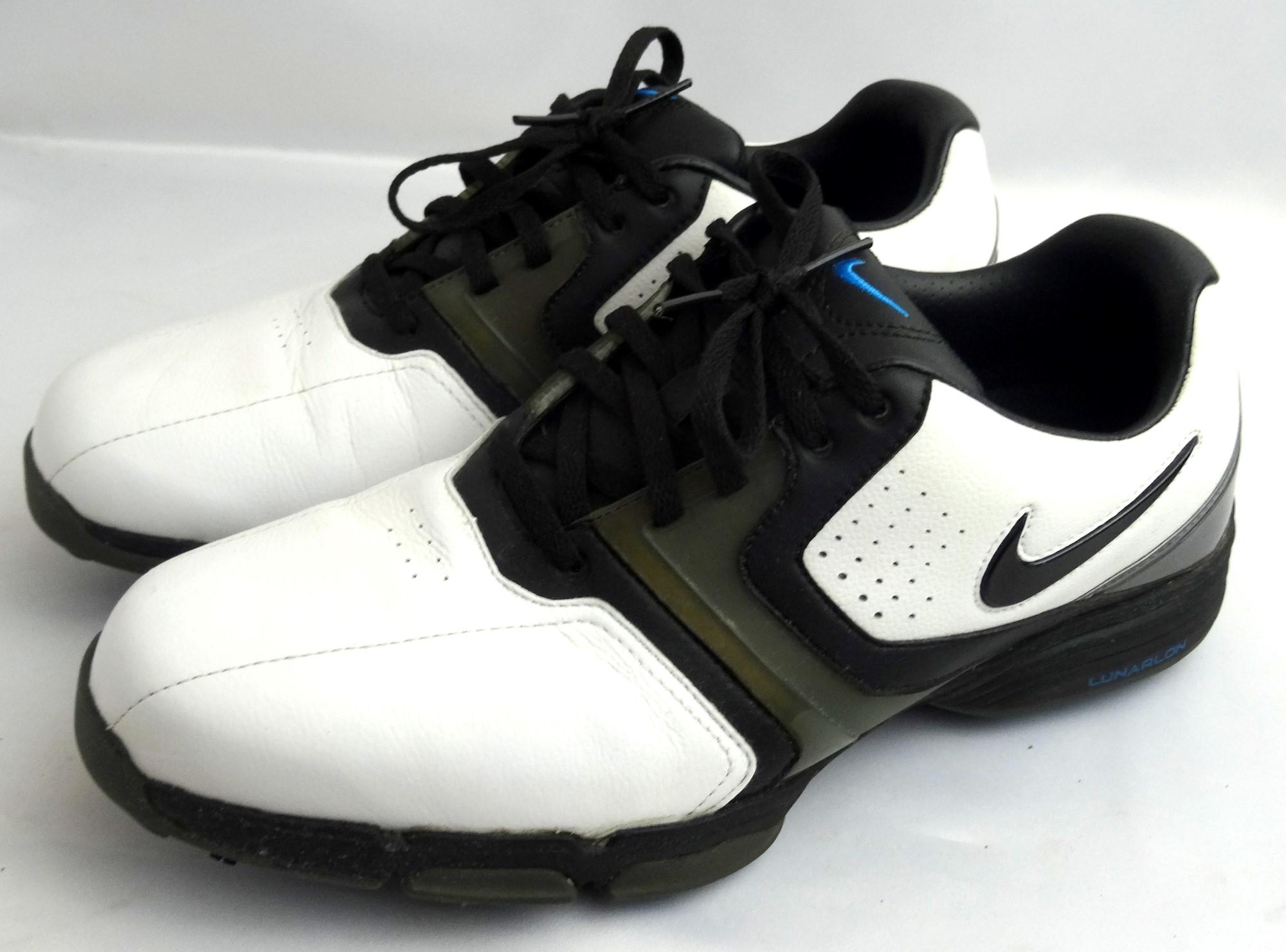 on sale 6a8b9 b5d34 Nike Lunar Saddle Golf Shoes WHITE