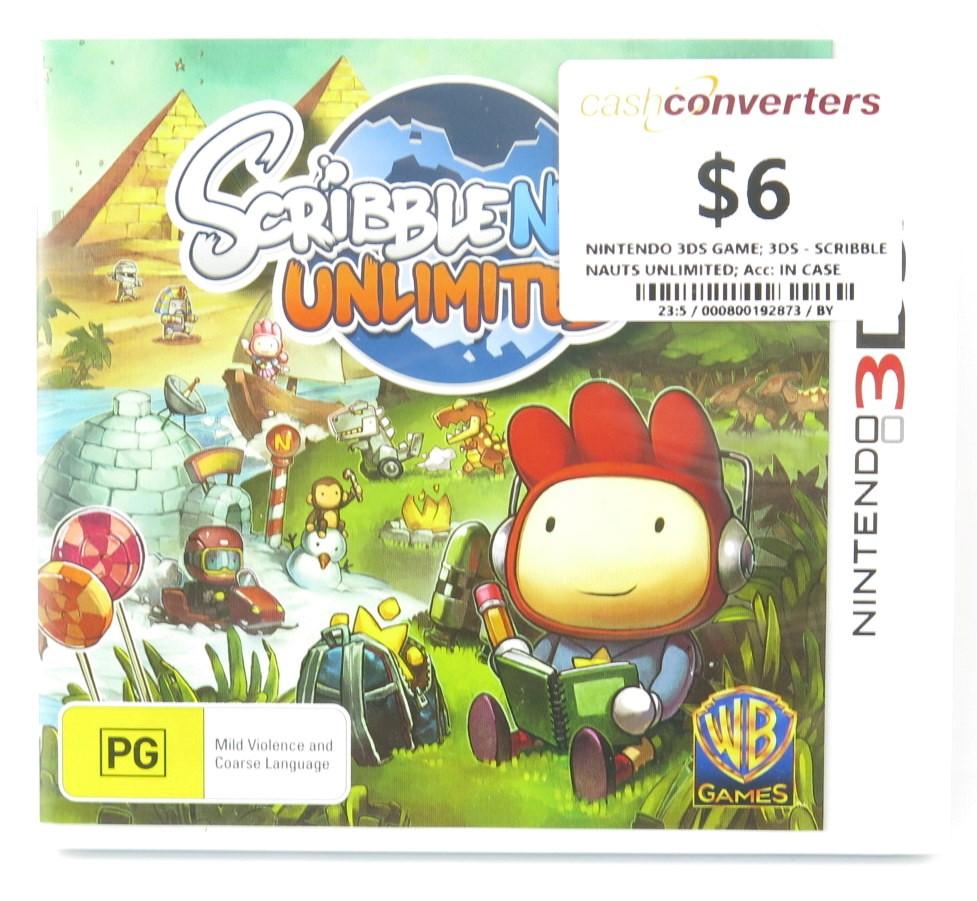 Nintendo Game Cartridge SCRIBBLE NAUTS UNLIMITED