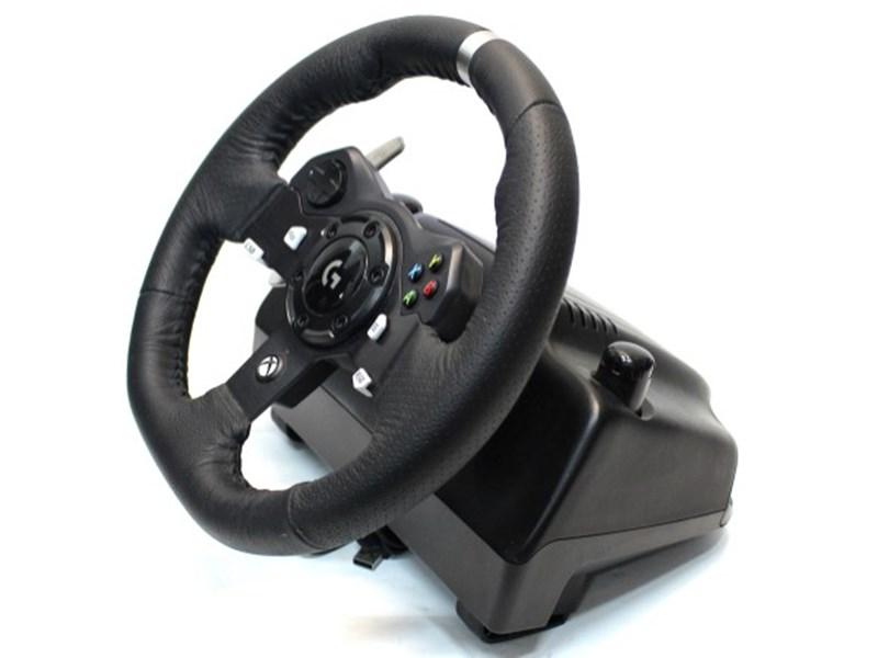 logitech steering wheel Xbox One BLACK