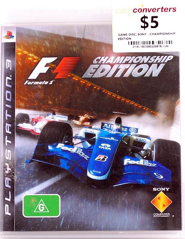CHAMPIONSHIP EDITION Playstation 3
