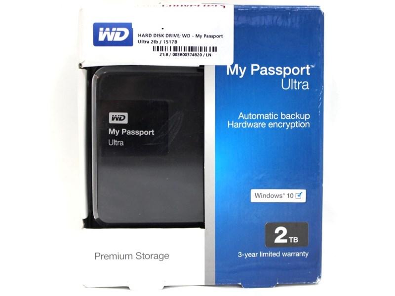Wd My Passport Ultra 2Tb 1517B Black
