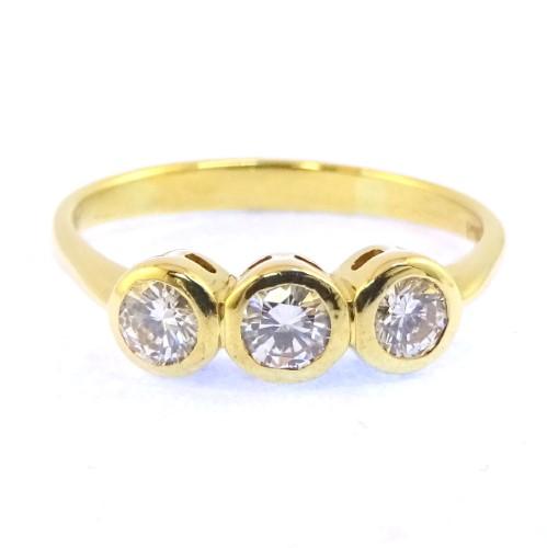 Diamond Triplet Tdw: 0.45Ct 18ct Yellow Gold Ladies