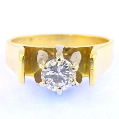 18Ct Yellow Gold & 0.30Ct Solitaire Brilliant Cut Diamond