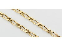 9ct 50cm Figaro Chain Yellow Gold Necklace 24 9cm 24 98G