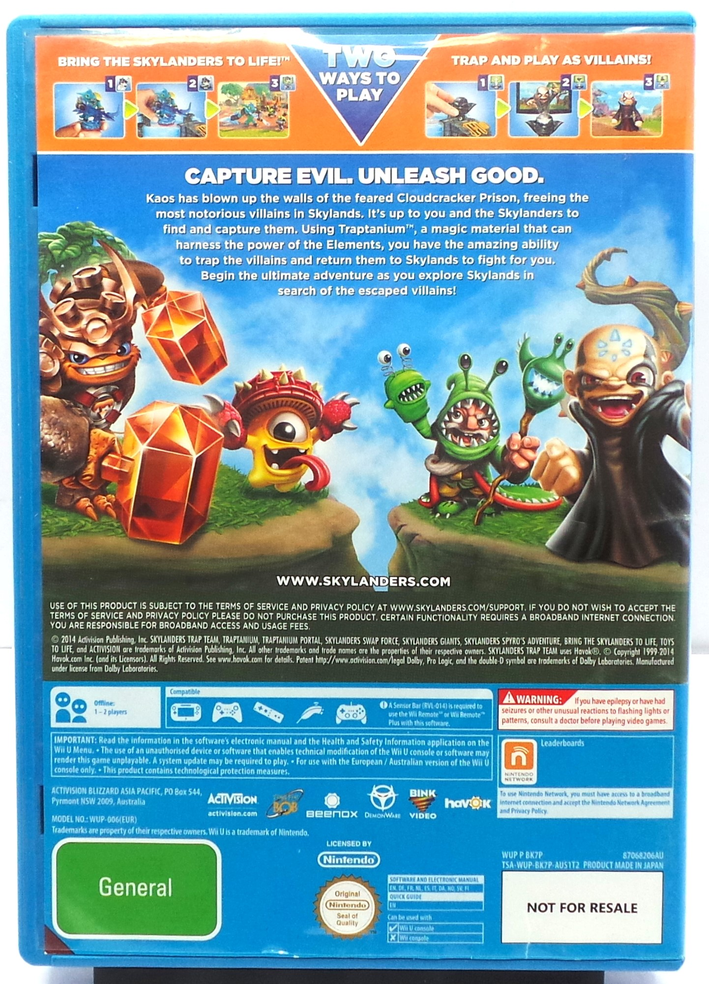 Skylanders Trap Team Nintendo WII U