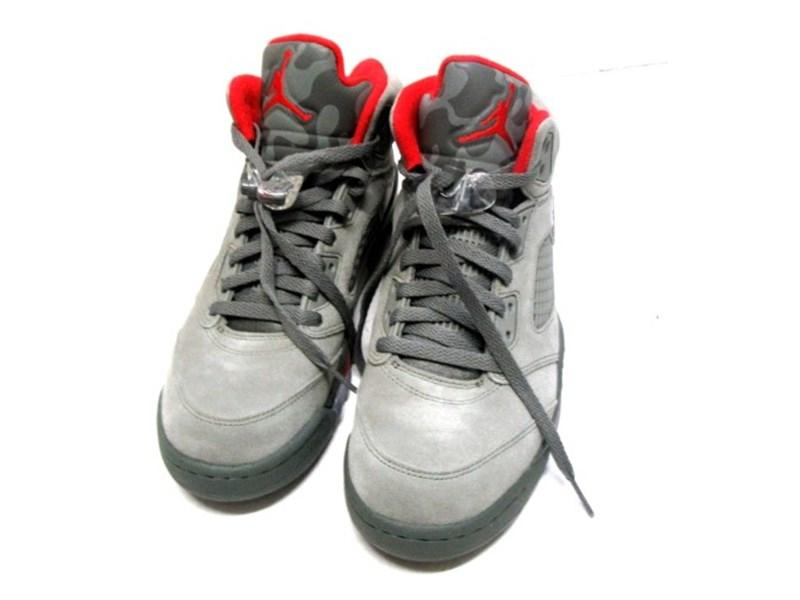 26f8e6377a0af1 Basketball Shoes Air Jordans 5 Retro GREY