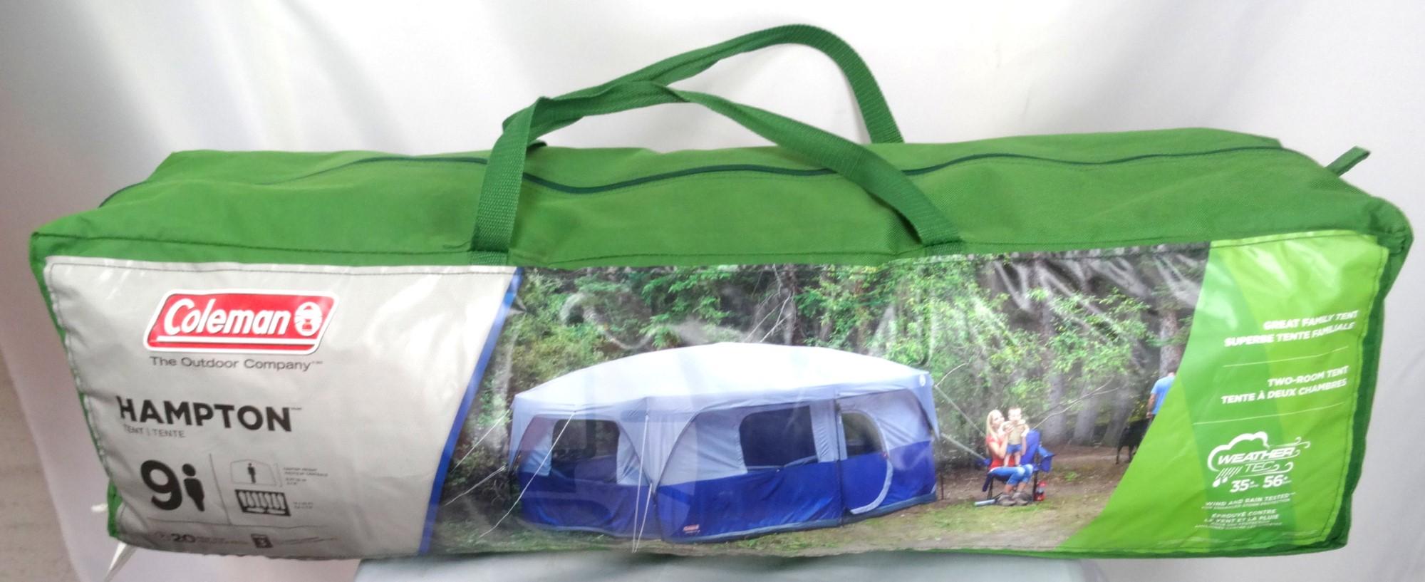 Tent. Coleman H&ton Dome 9-man ...  sc 1 st  Cash Converters & Coleman Hampton Dome 9-man Tent BLUE