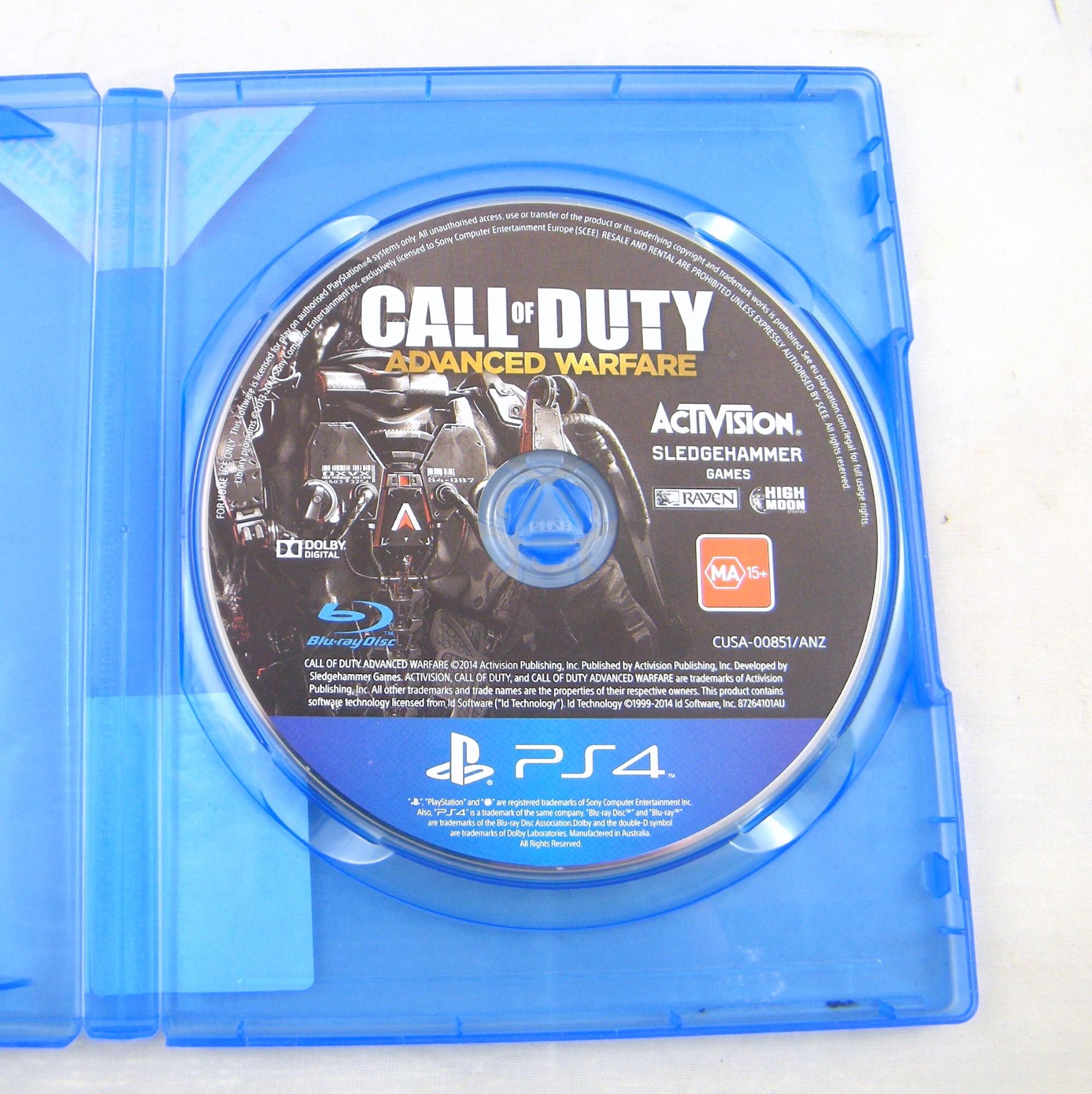 Sony Game Disc Call Of Duty Advanced Warfare