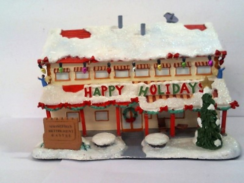 Simpsons Christmas Village.The Simpsons Christmas Village Collection N A